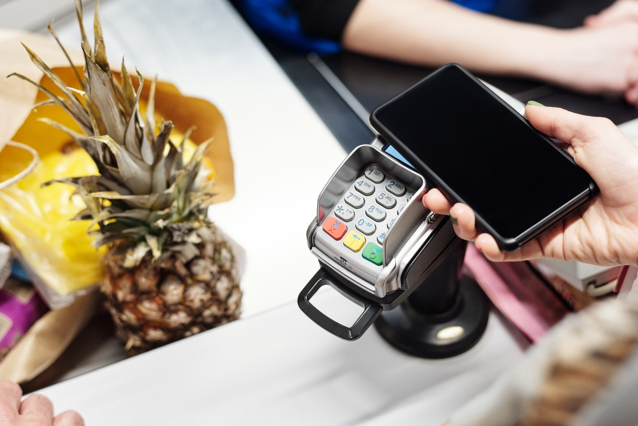 grocery payment card mobile digital. nfc